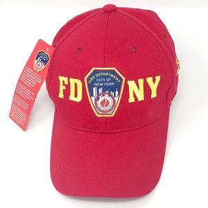 NWT FDNY Red Baseball Cap